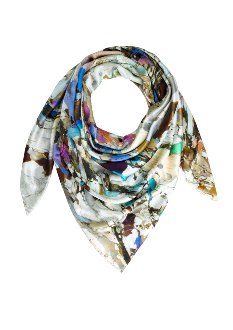 Weston Scarves Mica Schist Silk Scarf - Multi main image