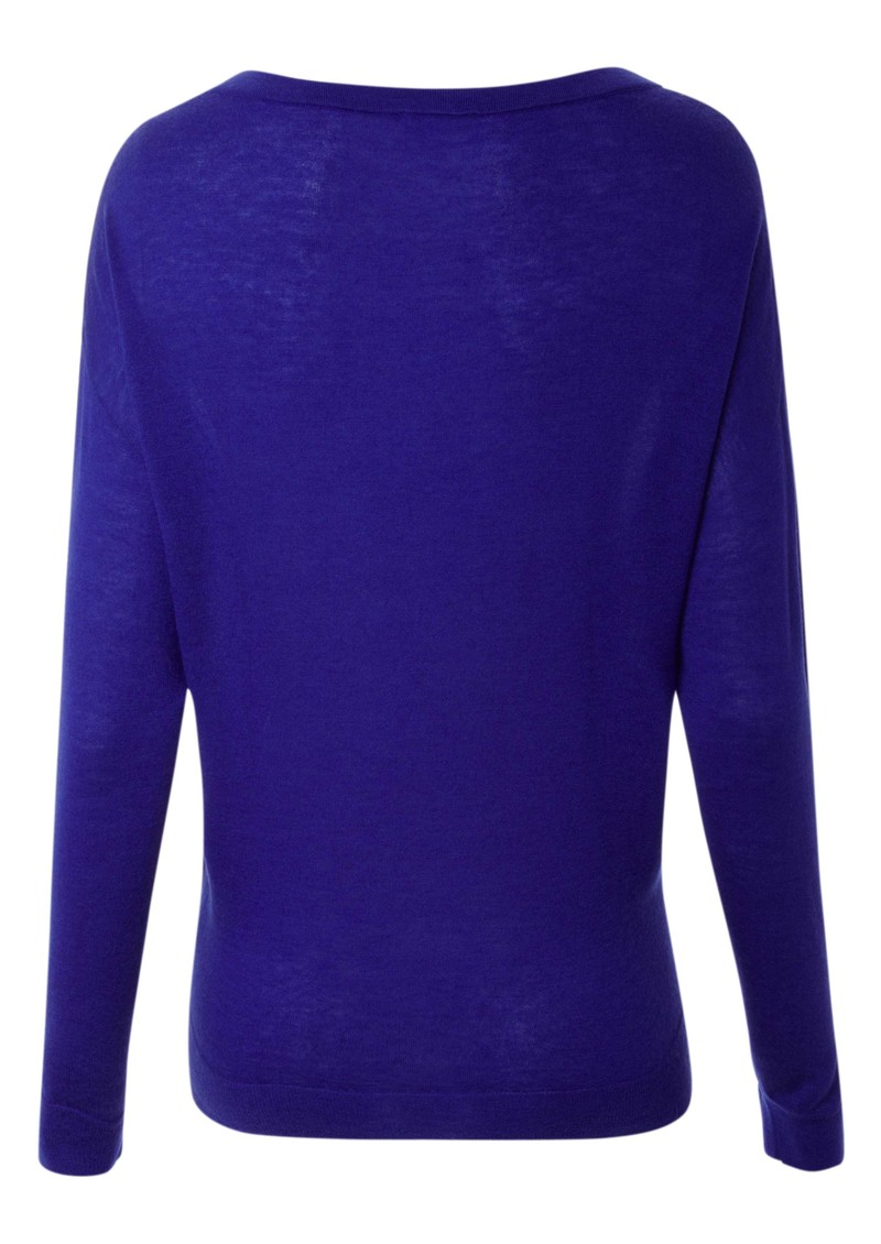 American Vintage Boise Cashmere Blend Long Sleeve Top - Electric Blue main image