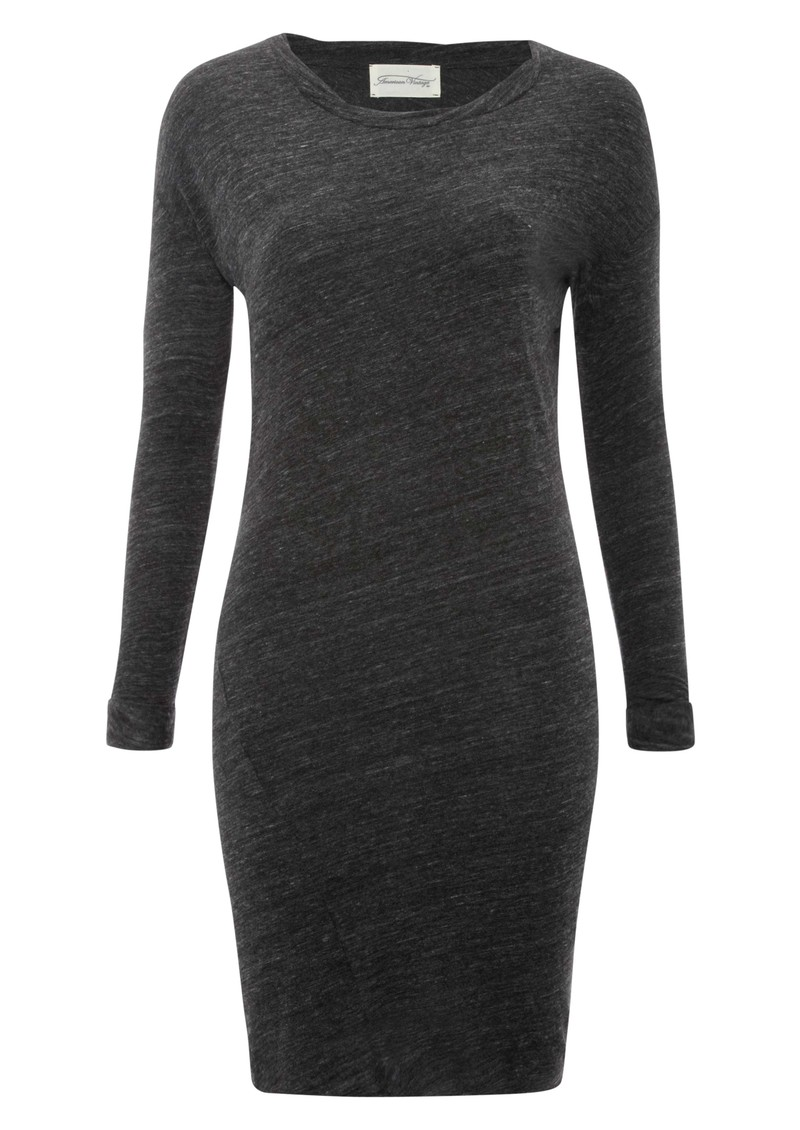 Kim Wool Mix Long Sleeve Dress - Charcoal main image
