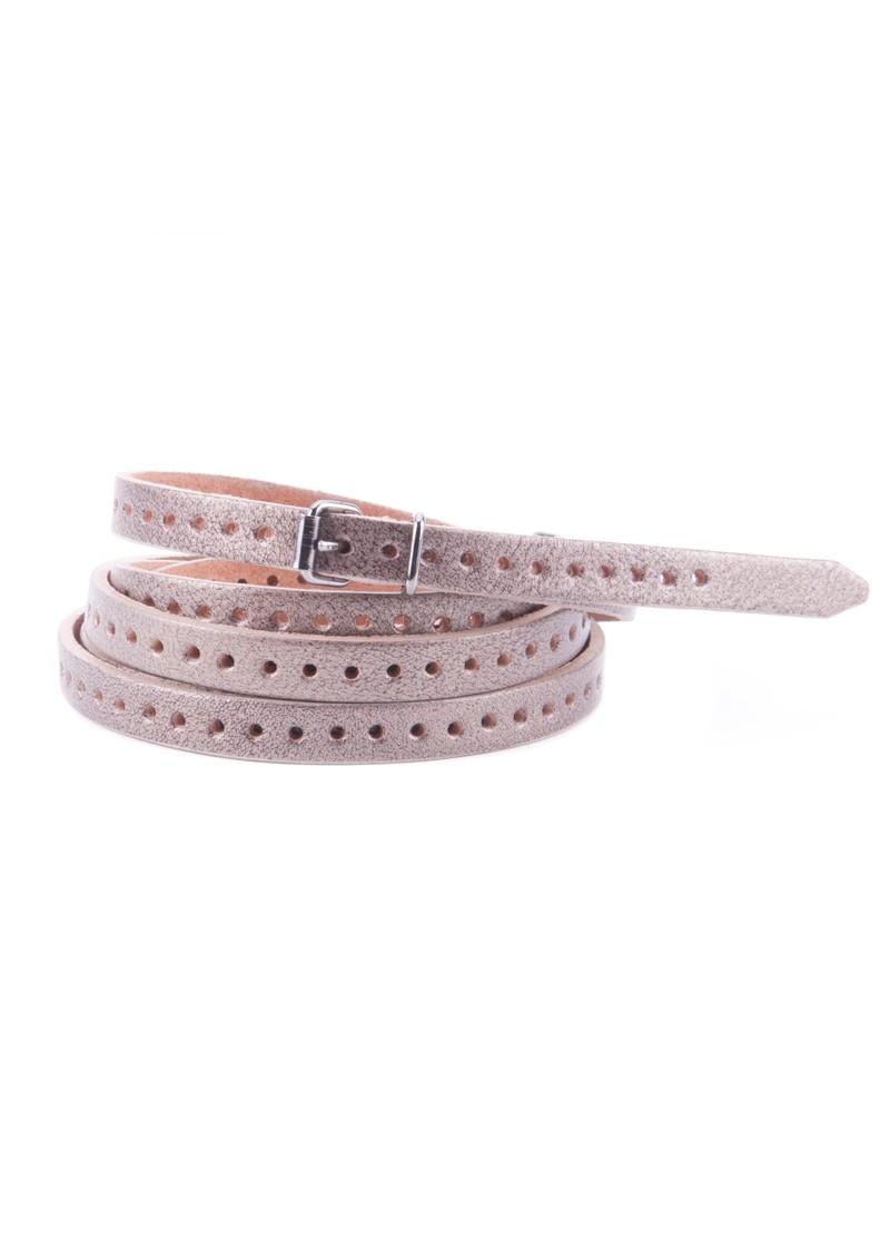 Black & Brown  Orla Double Wrap Belt - Antique Silver main image