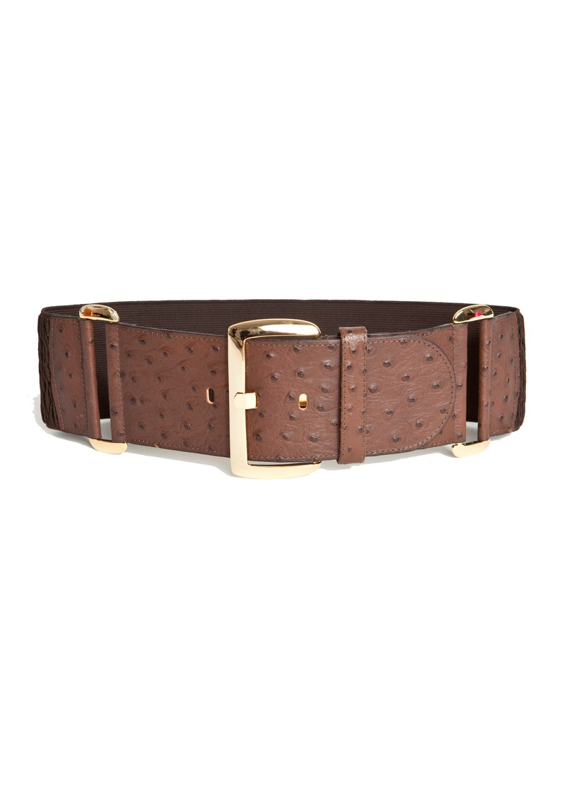 Black & Brown  Isabel Waist Belt - Brown Ostrich  main image