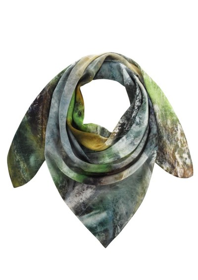 Weston Scarves Fluorite Silk Scarf - Green main image