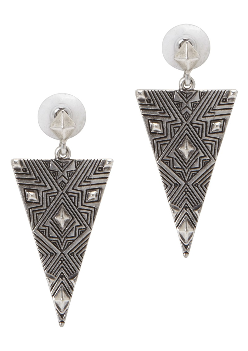 Triangle Drop Earrings - Silver main image