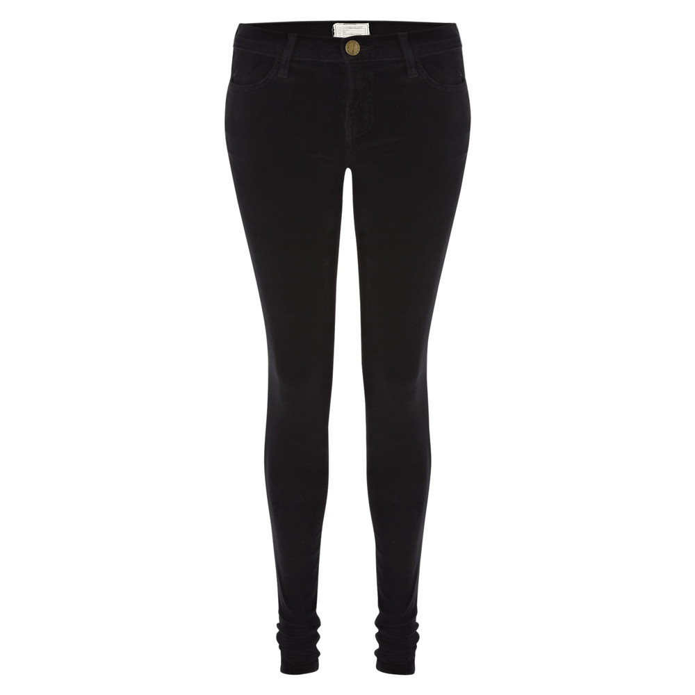The Skinny Velvet Jean  Black