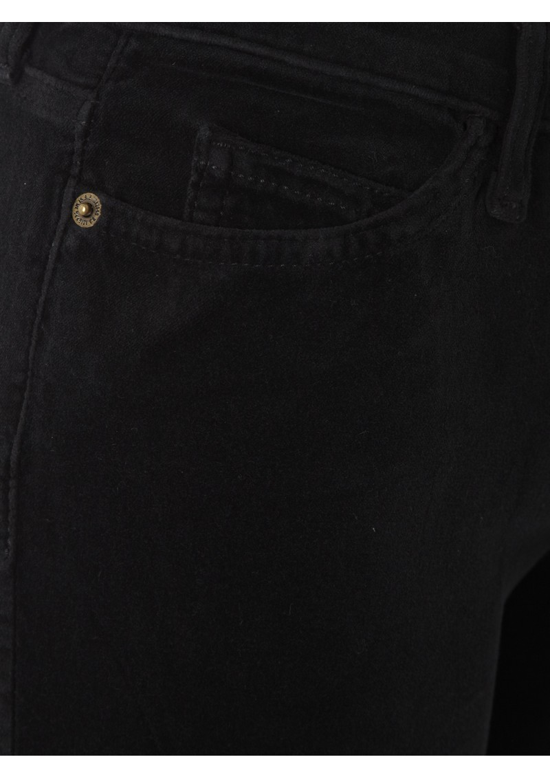 Current/Elliott The Skinny Velvet Jean - Black main image