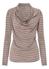 Striped Layering Drape Top - Calm