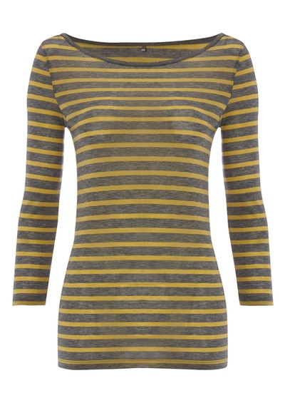 Day Birger et Mikkelsen  Striped Layering Top - Medium Grey Melange main image