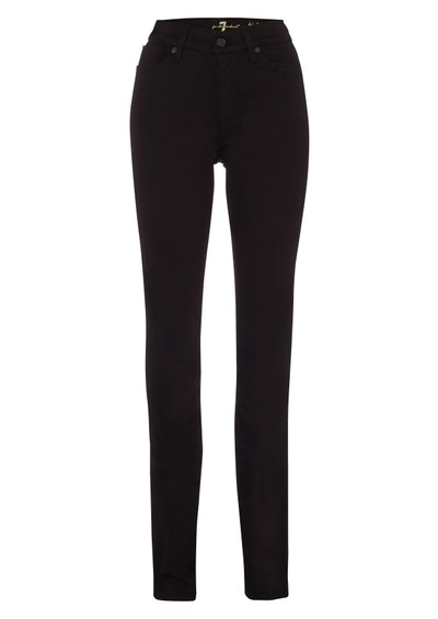 7 For All Mankind High Waisted Straight Leg - Black main image