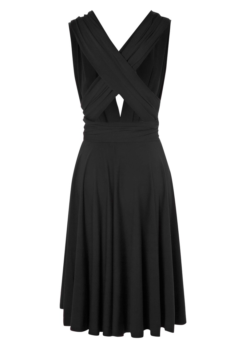 Signature Jersey Wrap Dress - Charcoal  main image