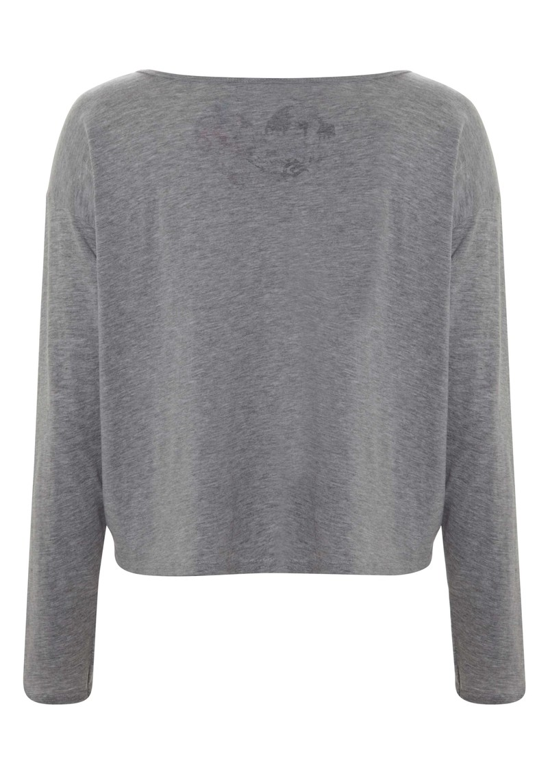 Long Sleeved Rose Tee - Grey main image