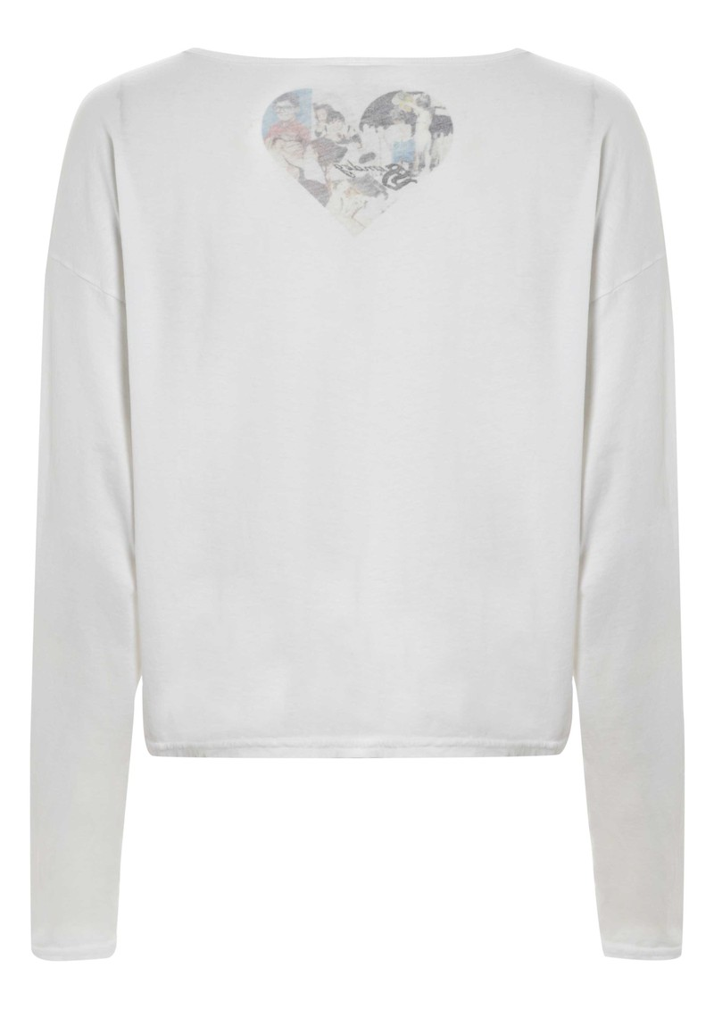 Long Sleeved Diamond Tee - White main image