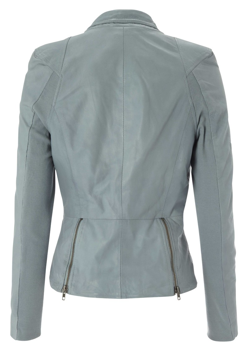 Muubaa Lyra Leather Biker Jacket - Concrete main image