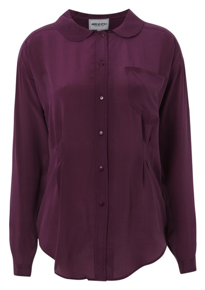American Retro Mummy Claudine Shirt - Purple main image