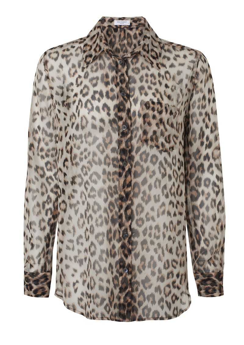Equipment Reese Silk Shirt - Natural Leopard main image