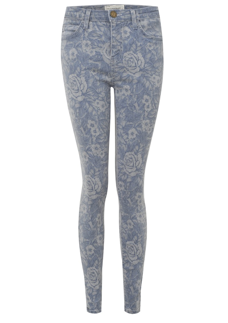 Current/Elliott High Waisted Crop Skinny - Mood Indigo Floral main image