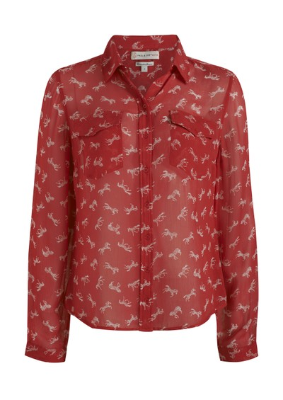 Paul & Joe Sister Cavalera Blouse - Rouge main image