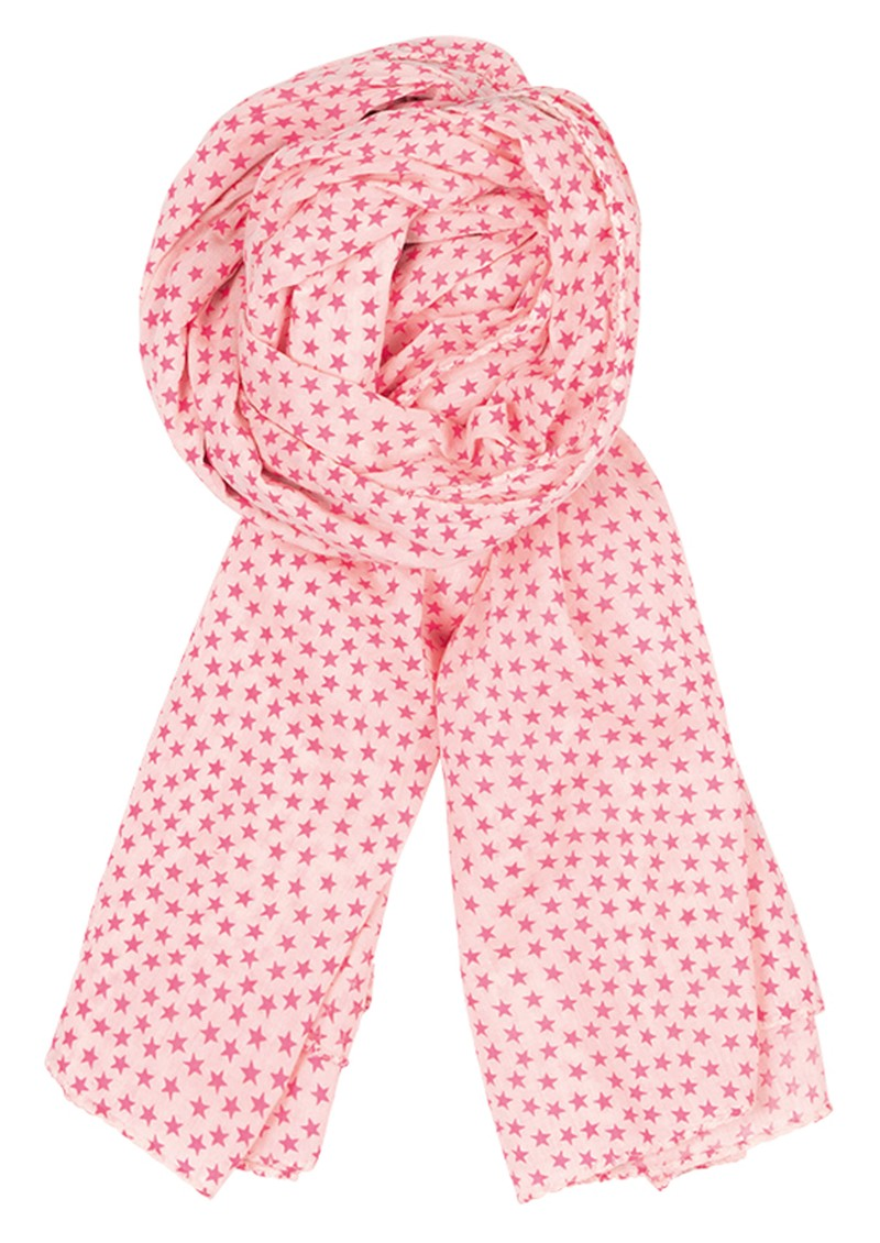 Summer Stars Scarf - Neon Pink main image