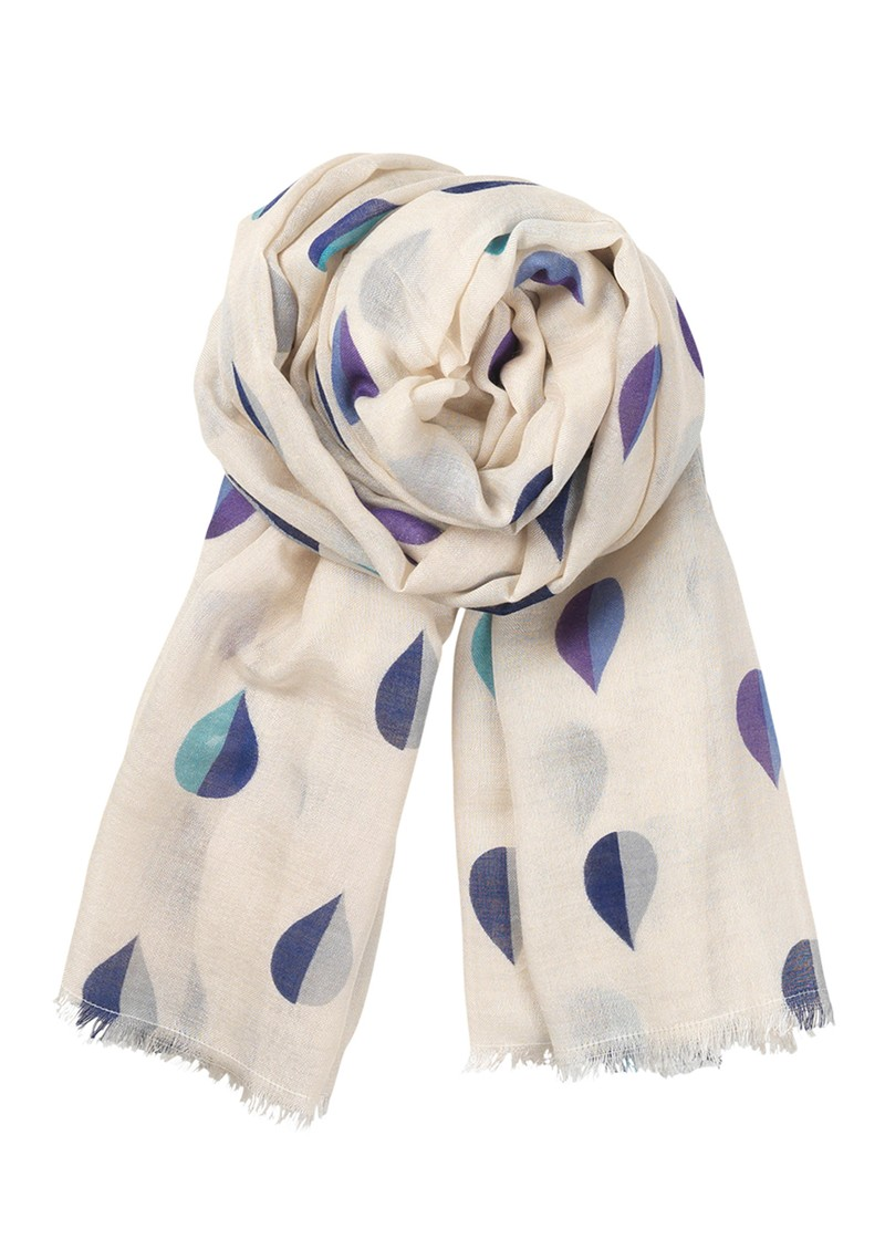B Sailor Drops Silk & Wool Mix Scarf - Royal Blue main image