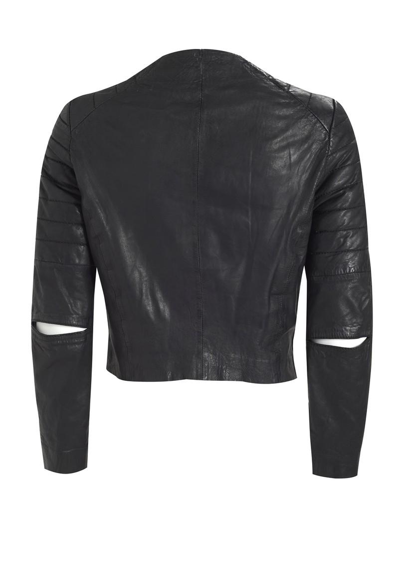 Muubaa Zomsa Quilted Leather Jacket - Black main image
