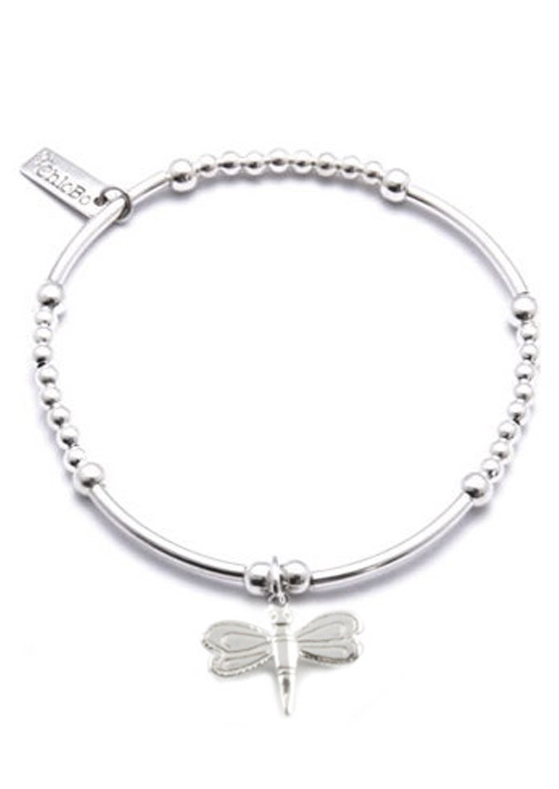 Cute Mini Bracelet With Dragonfly Charm - Silver main image