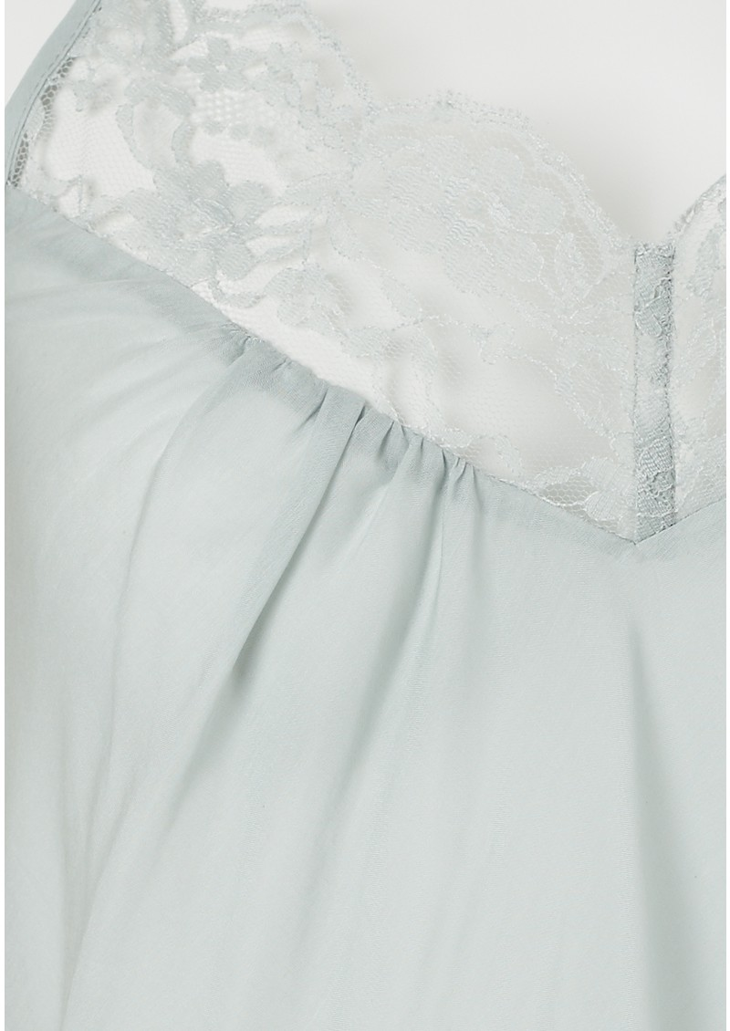 Day Birger et Mikkelsen  Vidar Silk Blend Lace Top - Early Moon main image