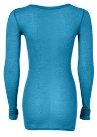 Massachussets Long Sleeve Tee - Azure