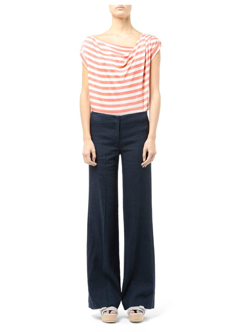 Regatta Stripe Cotton Tee - Blush & Almond main image