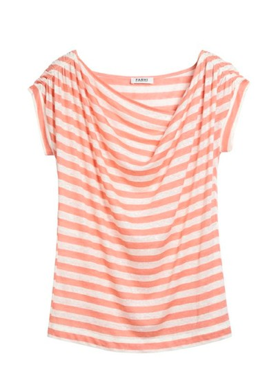 Farhi Regatta Stripe Cotton Tee - Blush & Almond main image