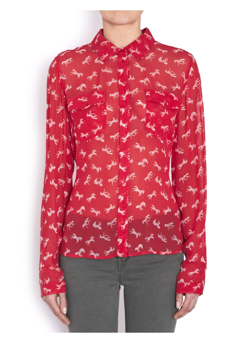 Paul and Joe Sister Cavalera Blouse - Rouge main image