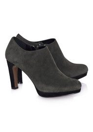 Heeled Ankle Boot - Grey