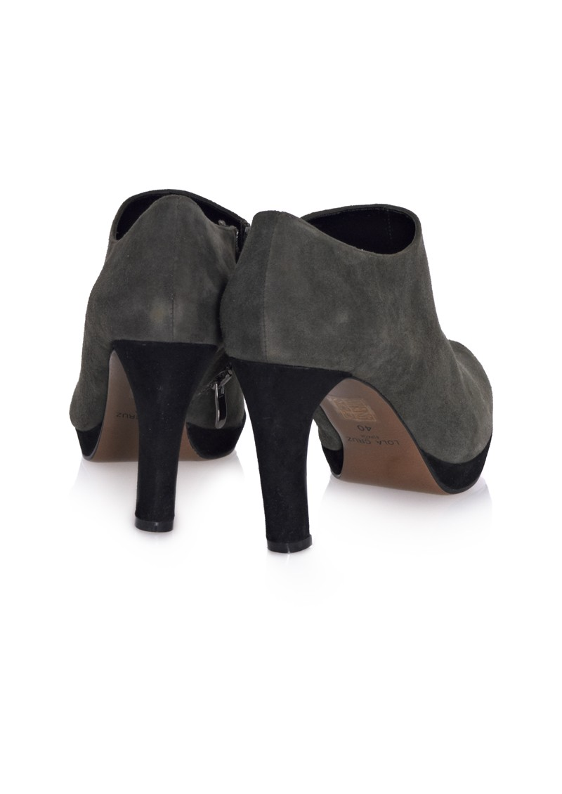 Lola Cruz Heeled Ankle Boot - Grey main image