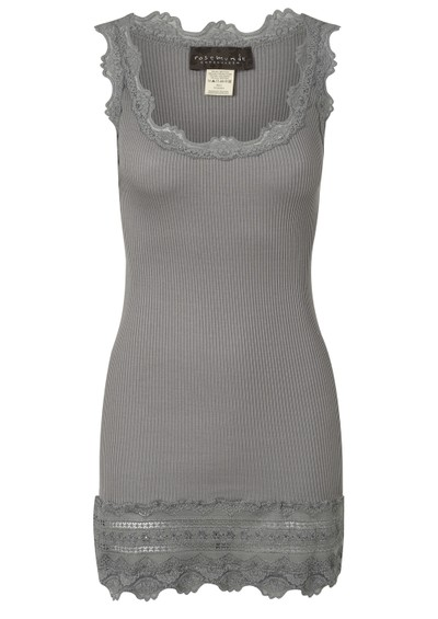 Rosemunde Wide Lace Silk Blend Vest - Wild Dove main image