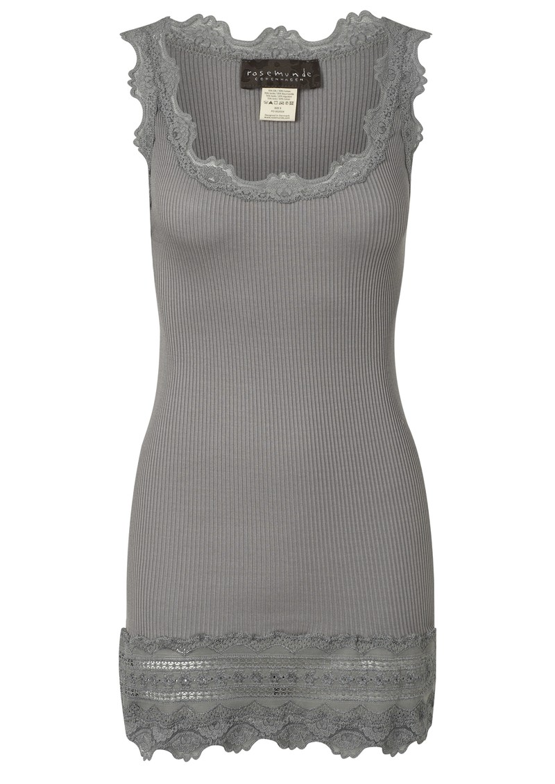 Wide Lace Silk Blend Vest - Wild Dove main image