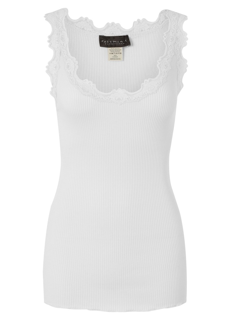 Silk Blend Lace Vest - White main image