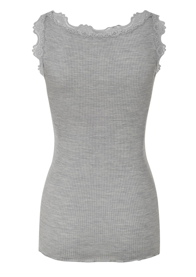 Rosemunde Silk Blend Lace Vest - Light Grey main image