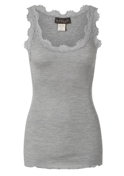 Rosemunde Silk Blend Lace Vest - Light Grey main image