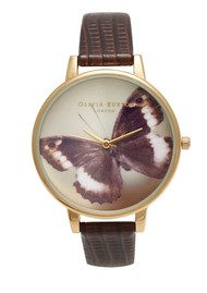 Olivia Burton Woodland Butterfly Watch - Cognac