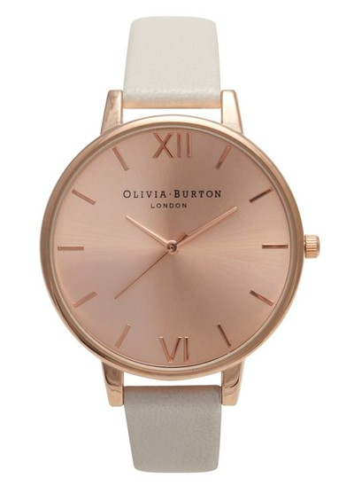 Olivia Burton Big Dial Rose Gold Plated Watch - Mink main image