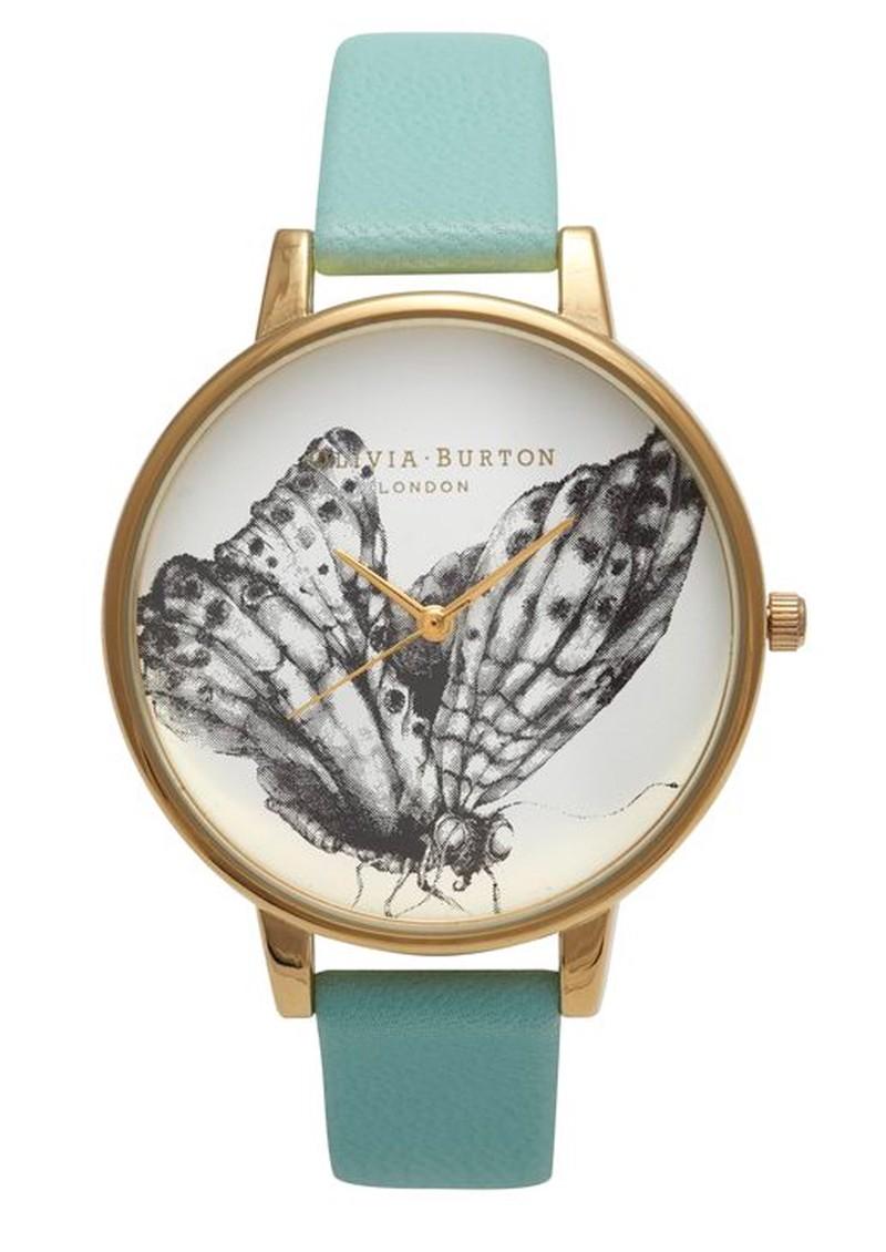Olivia Burton Moth Motif Watch - Turquoise main image