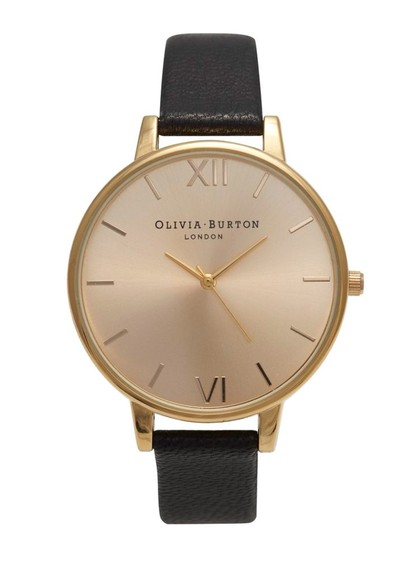 Olivia Burton Big Dial Watch - Black main image