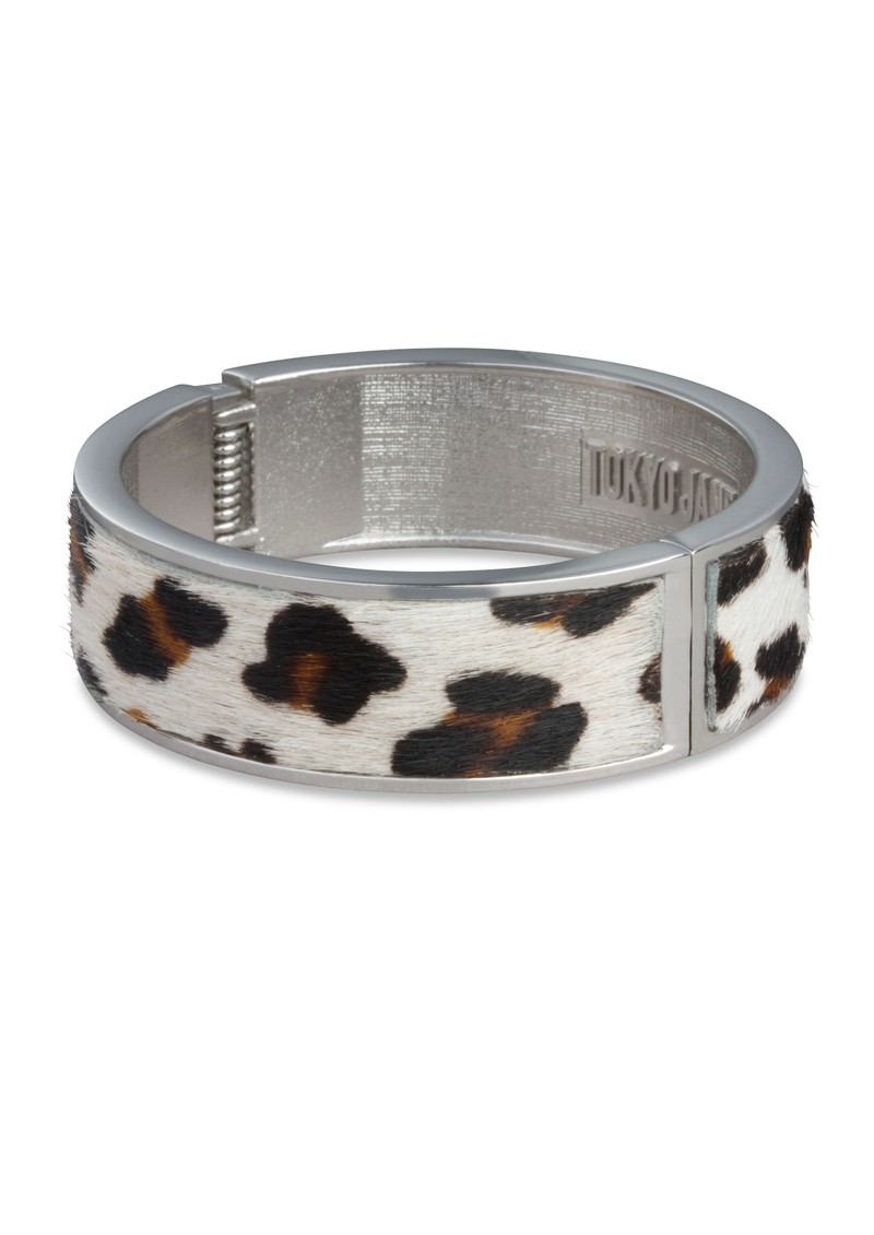 Elina Leather Bangle - Leopard Sand main image