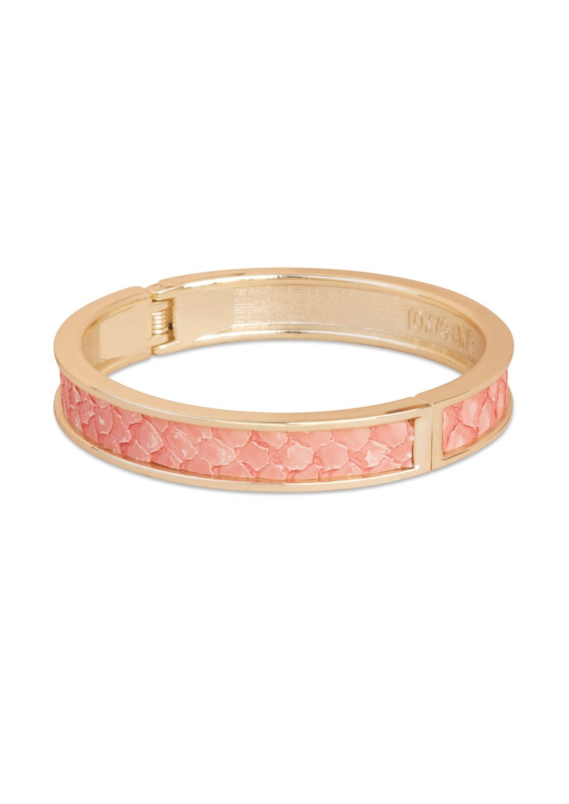 Gete Leather Trim Bangle - Rose & Gold main image