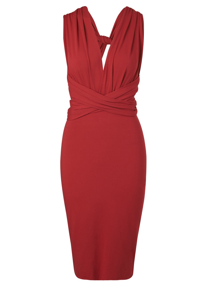Butter By Nadia Pencil Wrap Jersey Dress - Vixen main image