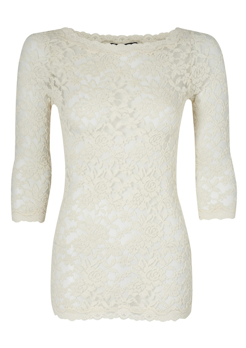 Rosemunde Lace 3/4 Sleeved Top - Marble main image