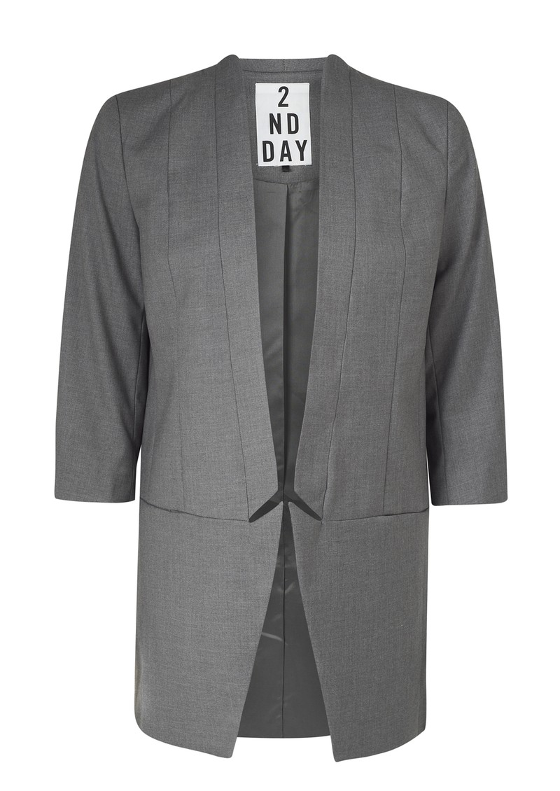 2nd Day Jenna Boyfriend Blazer - Grey main image