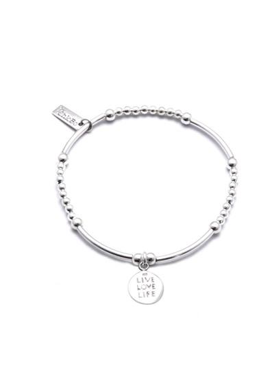 ChloBo Cute Mini Bracelet With Live Love Life Charm  - Silver main image