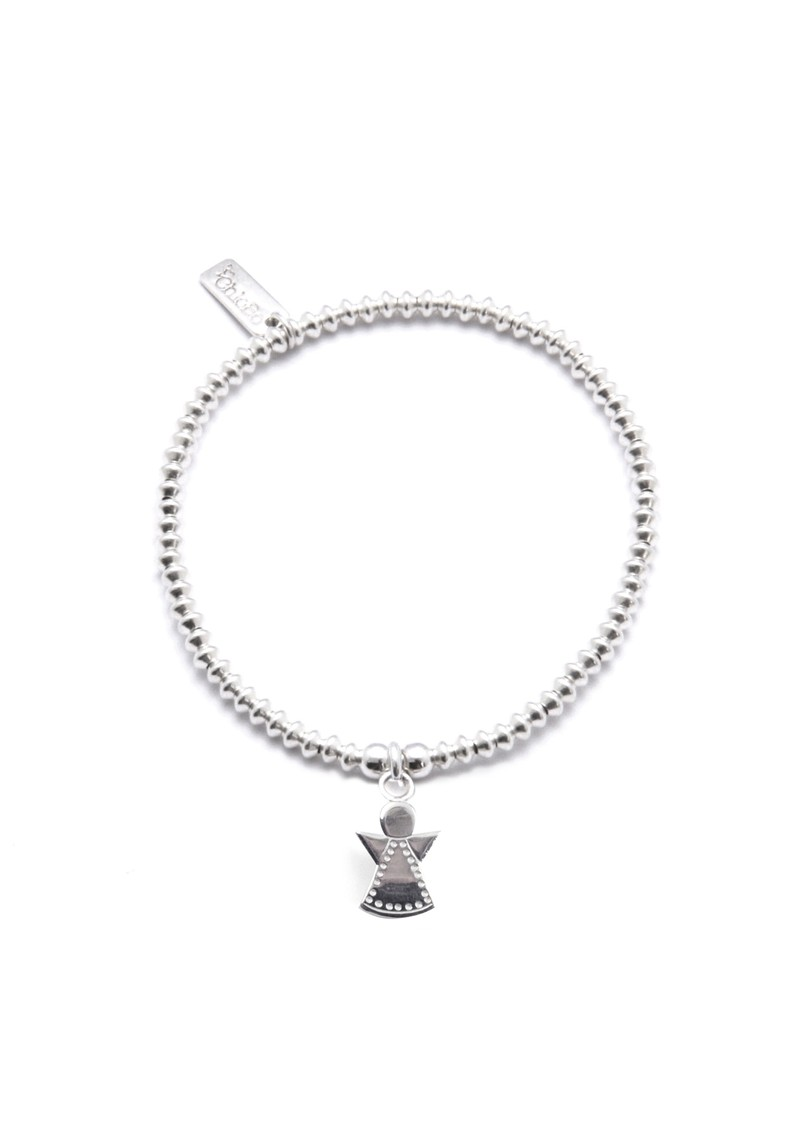 Mini Disc Bracelet With Dotty Angel Charm - Silver main image