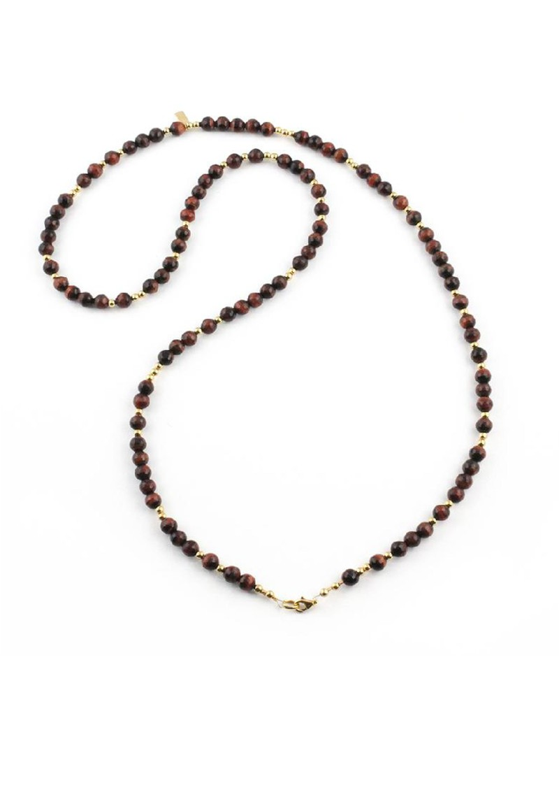 Cloud 9 Red Tigers Eye Necklace - Red & Gold main image