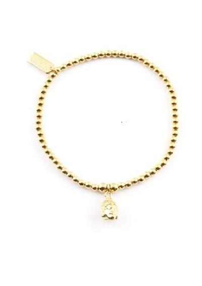 ChloBo Cloud 9 Gold Cute Charm Bracelet with Buddha Head Charm - Gold main image