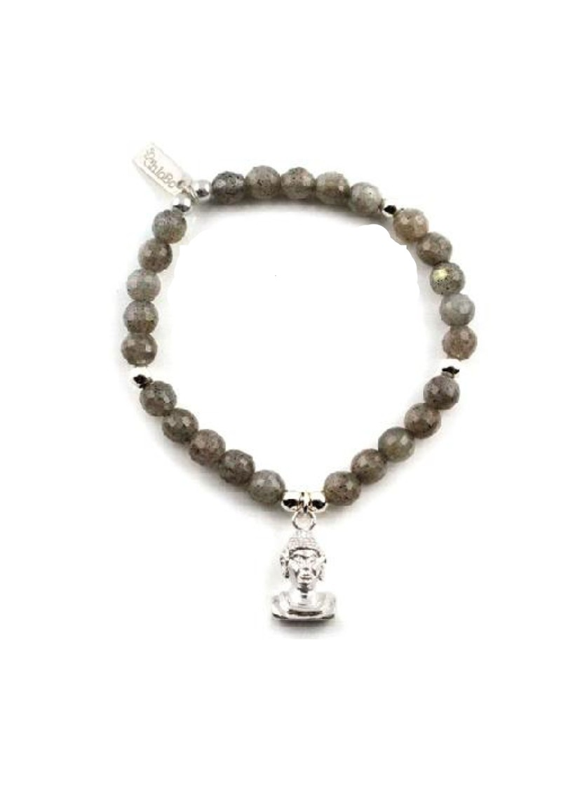 ChloBo Cloud 9 Labradorite Bracelet with Buddha Bust - Labradorite & Silver   main image